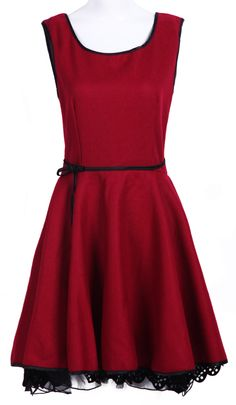 Red Bow Back Satin Dress <3