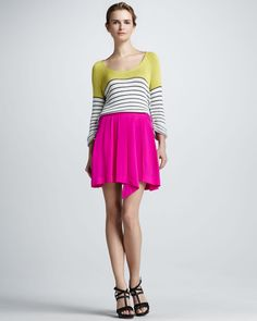 http://ncrni.com/dolce-vita-striped-knit-sweater-pleated-asymmetric-skirt-p-7242.html