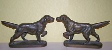 Vintage Setter (Irish Setter Gordon Setter English Setter) Solid Brass Bookends  BEAUTIFUL!!! Col. Potter Cairn Rescue Ebay auction ends Sun 7/28/13.  All proceeds benefit cairns in need.