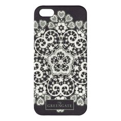 GreenGate Mobile Cover IPhone 5 Lace Silver | NEW! Autumn/Winter 2014 | Originated-Webshop
