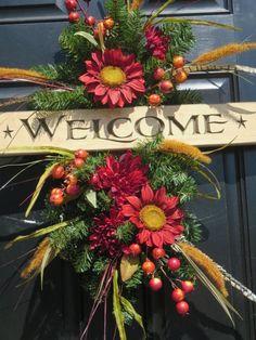 Fall Door Swag Wreath, Autumn Wreaths, Fall Door Wreaths, Door Wreaths…