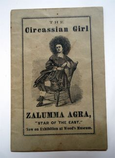 Original Circus Sideshow Freak Pamphlet Pitch Book Circassian Girl Zalumma Agra in Collectibles, Historical Memorabilia, Fairs, Parks & Architecture, Circus & Carnival, Programs & Posters   eBay