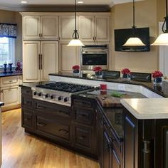 Kitchen Kitchens With Cooktop Islands Design, Pictures, Remodel, Decor And  Ideas