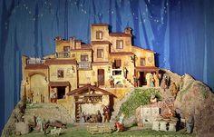 Giuseppe Guarino - Presepe 2007 - Veduta complessiva del presepe realizzato esclusivamente in polistirolo e gesso