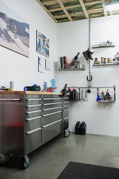 Une belle finition de panneaux de PVC Trusscore pour un intérieur de garage