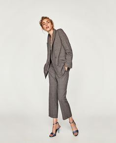 ZARA - WOMAN - STRAIGHT CHECKED TROUSERS