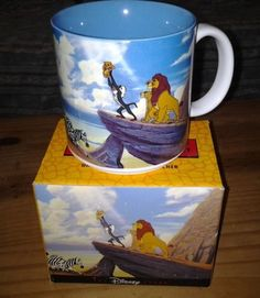 VTG DISNEY THE LION KING CERAMIC COFFEE CUP MUG - RETIRED NIB