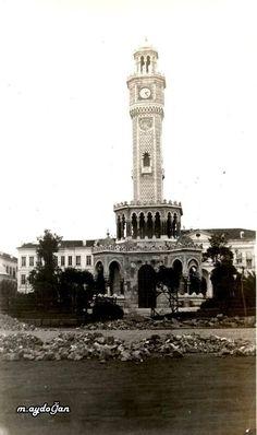 Bir zamanlar İzmir saat kulesi, denize ne kadar da yakınmış
