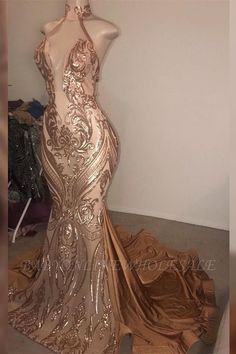 Babyonlinewholesale offers Gorgeous High neck Golden Mermaid Long Prom Dress Real Model Series at a cheap price from Stretch Satin to Mermaid Floor-length them. Stunning yet affordable Sleeveless Evening Dresses,Prom Dresses. Sexy Dresses, Prom Girl Dresses, Prom Outfits, Cheap Prom Dresses, Trendy Dresses, Formal Dresses, Stunning Prom Dresses, Club Dresses, Wedding Dresses