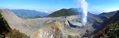 Panorama sur le cratère actif du volcan Poas au Costa Rica, Tanguy de Saint-Cyr, Aventure et Volcans, février 2015