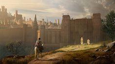 medieval concept towns fantasy castle walls town conceptartempire environment landscape rpg kenneth camaro