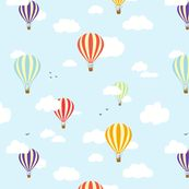 Hot Air Balloons by nobleandable, Spoonflower digitally printed fabric, wallpaper, and gift wrap