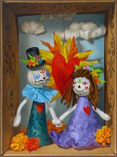 "Dia De Muertos by Natalie Featherston 12"" x 9"" oil Meyer Gallery"