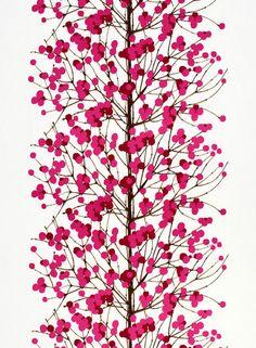 Lumimarja Fabric White/Pink | Kiitos Marimekko