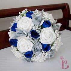 Grand royal style silk wedding bridal bouquet by TheBridalFlower
