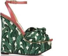 reminds me of Indochine wallpaper! loving Charlotte Olympia S/S 2012