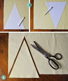 DIY Fabric Flags (this tutorial is at the bottom of the page : ) Fabric Flag Banners, Fabric Bunting, Make Bunting, Bunting Flags, Fabric Crafts, Sewing Crafts, Sewing Projects, Ideias Diy, Craft Fairs