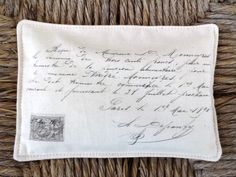 FREE SHIPPING Beautiful Lavender Sachet Featuring Antique French Graphics (8) by sewmanyroses on Etsy