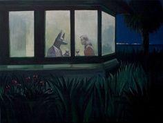 Anubis mój przyjaciel / Anubis my friend Joanna Karpowicz The Graveyard Book, Moonlight Painting, Vintage Moon, Illustration Art, Illustrations, American Gods, Cryptozoology, Anubis, Persephone