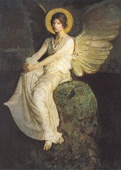 Sadness and classic art, artistdujour: Winged Figure Seated upon a...