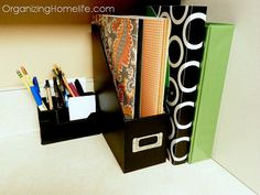 Organizing the Kitchen Command Center (Hot Spot) | Organizing ......Need to do this to my desk!