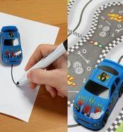 car that follows any black line, so you can draw your own track and the car will follow it.