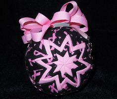 Breast Cancer Awareness Handmade Quilted by OrnamentsFromHome, $20.00