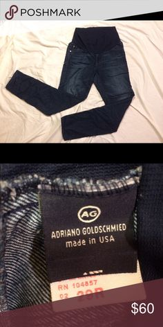 AG Maternity skinny jeans Comfy skinnies by AG. These were always a little snug for me so I think they are a better fit for a size 6. Good condition. AG Adriano Goldschmied Jeans Skinny