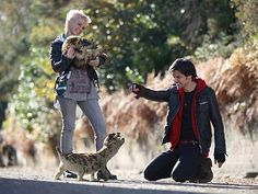 So cute!  Abby and Conner with Sid and Nancy.  Love Abby.