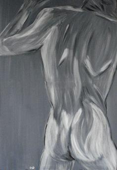 """Behind my back"" Acryl op doek, 70 x 100 cm www.tresjolique.nl/webshop"