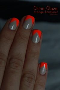 this is cool. neutral base and neon tips.