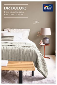 Dulux Paint Colours Neutral, Dulux Bedroom Colours, Warm Paint Colors, Wall Colours, Sofa Colors, Bedroom Paint Colors, Paint Colors For Home, Dream Bedroom, Home Decor Bedroom