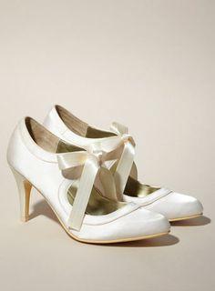 Amythest Ribbon Tie Satin Shoe - the bride - Wedding Satin Wedding Shoes, Wedding Shoes Bride, Satin Shoes, Bridal Shoes, Wedding Stuff, Wedding Ideas, Wedding Dresses, 1920s Shoes, Glitz And Glam