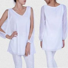 Sexy New Womens Loose Round Neck Strapless A-line Casual Skirts Mini Dress White