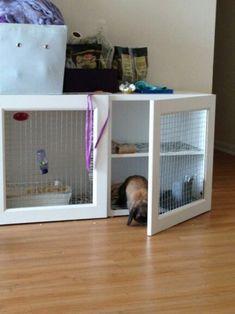 Diy Bunny Cage Awesome Ikea Bunny Hutch Diy Kallax Rabbit Houses to Do Diy. Diy Bunny Cage, Bunny Cages, Rabbit Cages, Diy Bunny Hutch, Indoor Bunny House, Indoor Rabbit, Cage Hamster, Pet Cage, Ferret