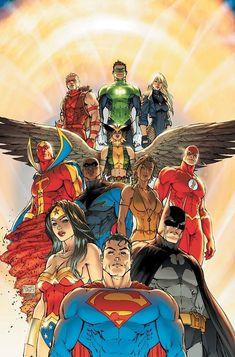 Comic-View — ed-pool: Justice League of America 12 by Michael. Justice League Comics, Dc Comics Superheroes, Batman Comics, Marvel Fan, Captain Marvel, Arte Dark Souls, Justice Society Of America, Michael Turner, Batman Vs Superman