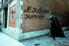 Jesus is my superhero!  www.crosswounds.com