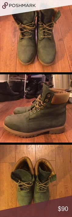 RARE- Timberland Men's Classic Boots-Blue Size 8.5 Timberland classic boots in good condition. Navy blue with brown soles. Quite comfy and great for winter. Timberland Shoes Boots