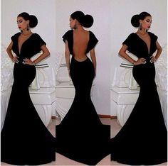 Barato 2014 V Sexy Pescoço Preto Longo Vestidos Sereia Moda Prom vestidos de festa vestido de noite elegante PD0151, Compro Qualidade Vestidos de Noite diretamente de fornecedores da China: