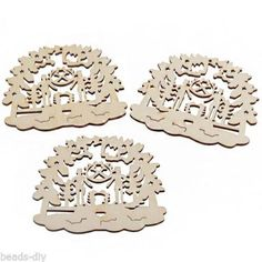 12PCs Wooden Christmas Ornaments Father Son X-mas Tree Hanging Decoration Party