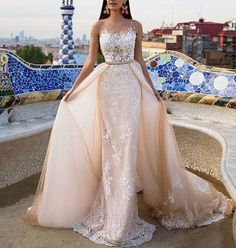 Cheap wedding dress long, Buy Quality wedding dress directly from China bride dresses Suppliers: New Wedding Dresses Long 2017 With Lace Appliques Sheer Scoop Vestido De Noiva Bridal Bride Dress Wedding Gown Robe de Mariage 2 In 1 Wedding Dress, Applique Wedding Dress, Elegant Wedding Dress, Modest Wedding Dresses, Bridal Dresses, Prom Dresses, 2017 Wedding, 2017 Bridal, Formal Dresses