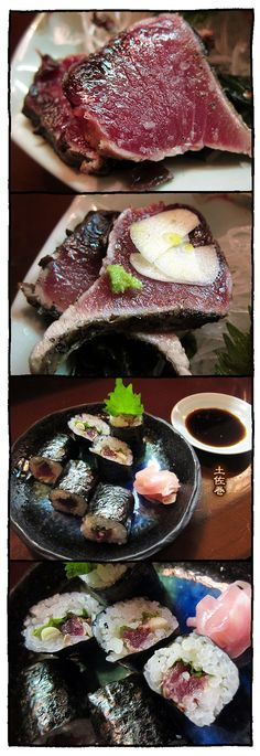 Katsuo Tataki, Lightly Roasted Bonito and Sushi Rolls | Kochi, Japan カツオの塩たたき・土佐巻き