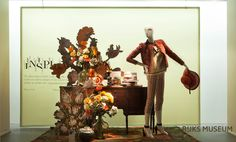 "de Bijenkorf celebrate re-opening Rijksmuseum Amsterdam Holland, display by StudioXAG, ""Still Life part 2"", pinned by Ton van der Veer"