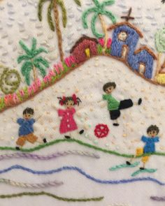 Creative Embroidery, Embroidery Art, Embroidery Stitches, Embroidery Patterns, Baby Crafts, Diy And Crafts, Doll Quilt, Weaving Art, Asana
