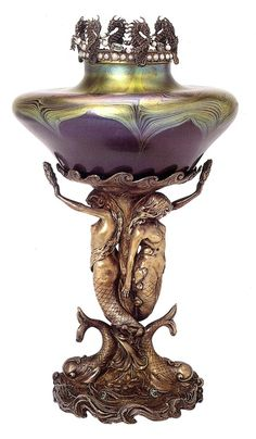| ♕ |  1897 vase from the incomparable Louis Comfort Tiffany