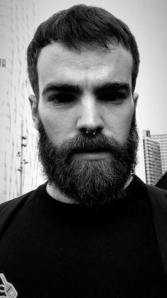 Septum Piercing Men, Piercings, Hair And Beard Styles, Hair Styles, Hot Guys, Hot Men, Beard Grooming, Awesome Beards, Male Beauty
