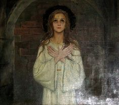 Santa  Filomena, martyr of the catacombs—Feszty Mass (1952) preserved in Budapest, Hungary.