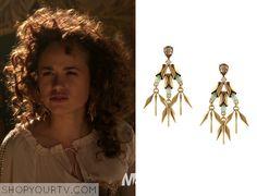 Reign: Season 2 Episode 8 Princess Claude's Crystal & Gold Earrings