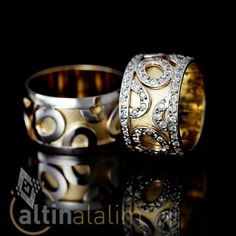 Özel Tasarım Desenli Altın Alyans : www.altinalalim.com #altin #altinalyans #gift