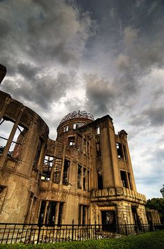 A-Bomb Dome. When I saw it, there were some cranes sitting in the windows. With the crane being the Japanese symbol of peace, it was a very moving moment.